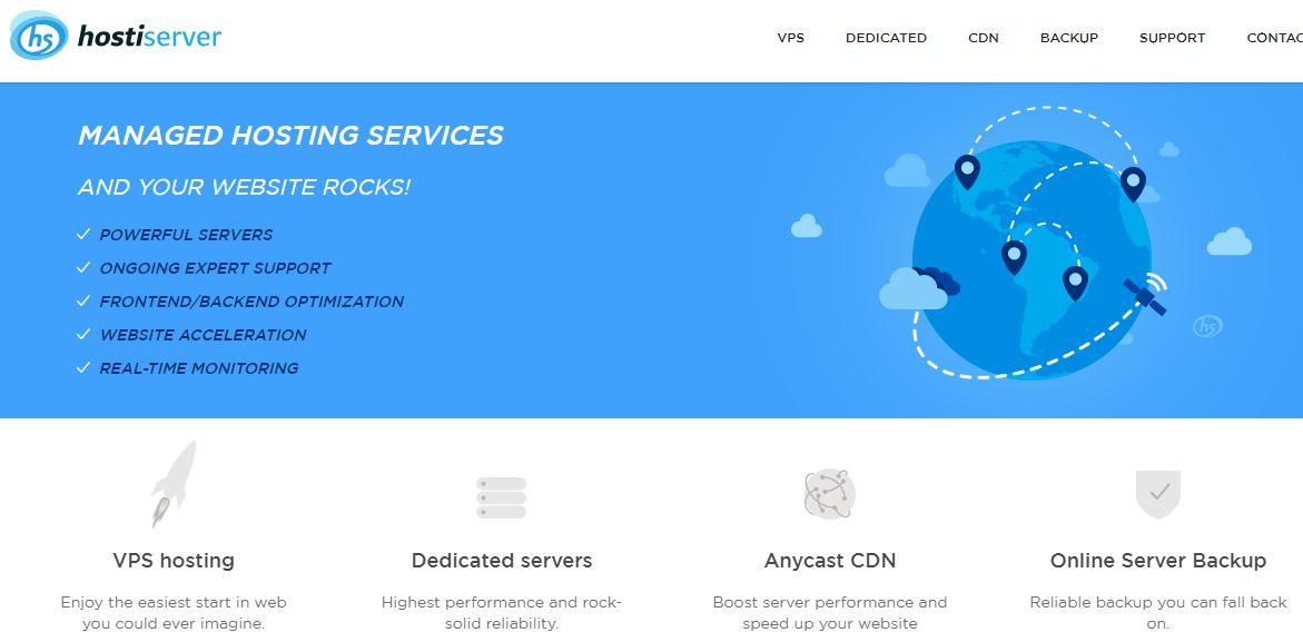 hostiServer hosting review