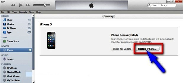 iPod prompting for a password