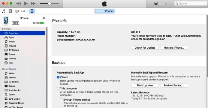 option on iCloud