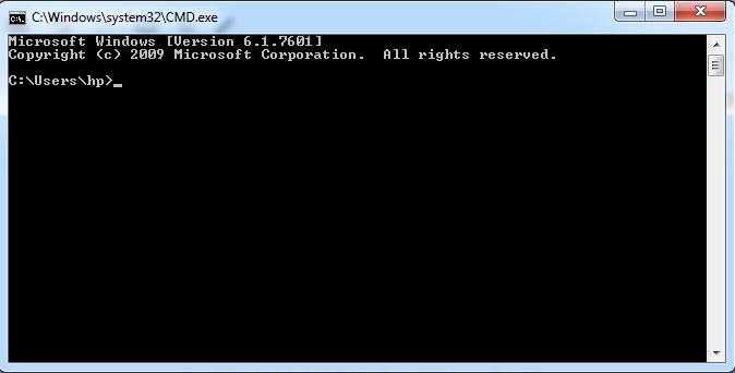 Fix Using Command Prompt
